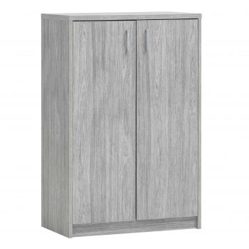 Commode Spacio 2 portes H 110cm - chêne gris