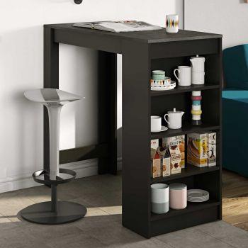 Table de bar Aravis - noir/béton