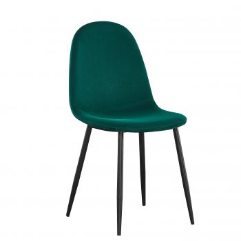 Lot de 4 chaises en velours Valeska - vert