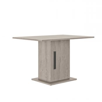 Table avec rangement Bosy 80x120 - chêne gris clair