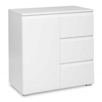 Armoire d'appoint Image 1 porte & 3 tiroirs - blanc