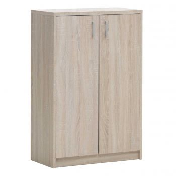 Commode Spacio 2 portes H 110cm - chêne sonoma