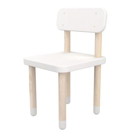 Chaise enfant Flexa Play avec dossier - blanc