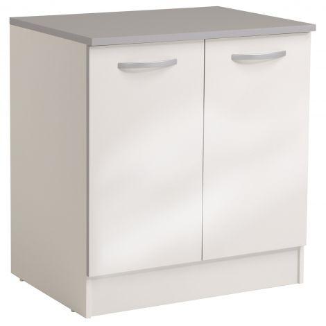 Meuble bas Spott 80 cm avec 2 portes - glossy white