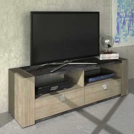 Meuble tv Iris - chêne gris