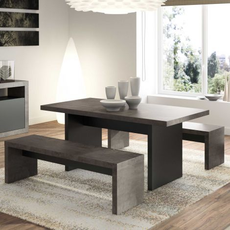 Ensemble table + 2 bancs Delta