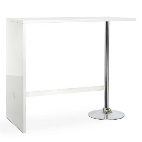 Table de bar Party 120cm - blanc brillant