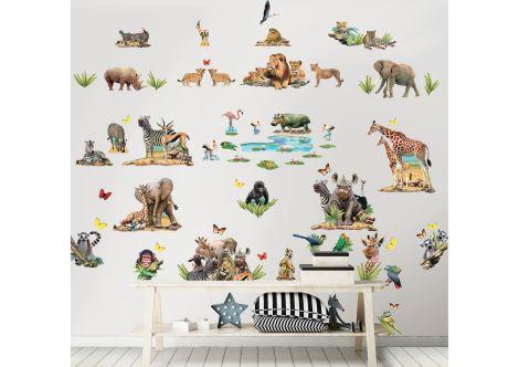 Stickers muraux Jungle Safari