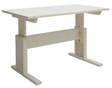 Bureau Adam réglable 140 cm - white wash