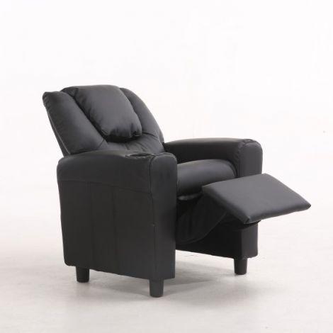 Fauteuil relax pour enfants Rex - noir