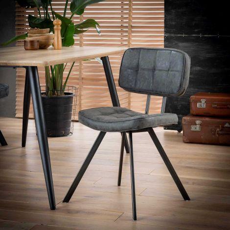 Lot de 4 chaises de salle à manger Ziva - noir