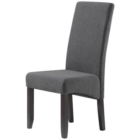 Lot de 2 chaises en tissu Joan - anthracite