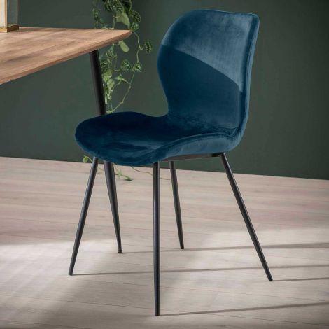 Set de 4 chaises Vince - bleu