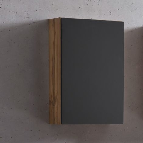 Armoire murale Kornel/Luna 40cm 1 porte - chêne/gris mat