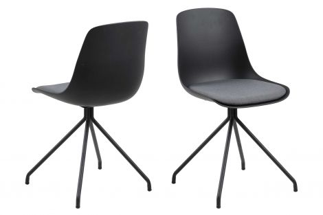 Chaise coquille Benthe - noir
