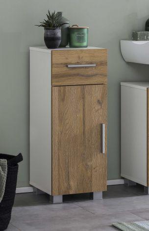 Armoire salle de bains Casa - blanc/chêne vieilli