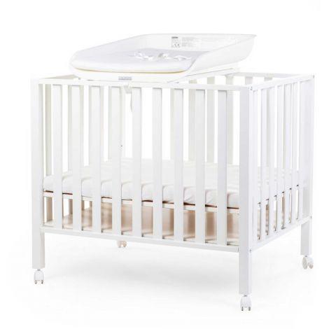 Plan à langer Evolux pour lit/parc bébé avec matelas à langer - blanc