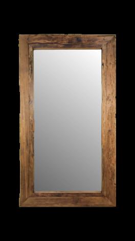 Miroir mural Rustic - 180x90 cm - bois flotté teck