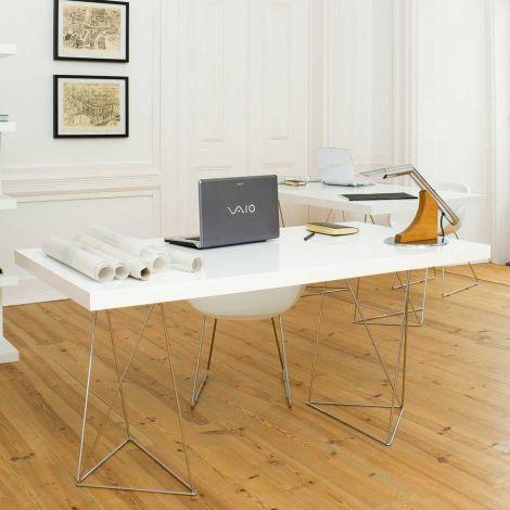 Table Multis 160cm - blanc/chrome