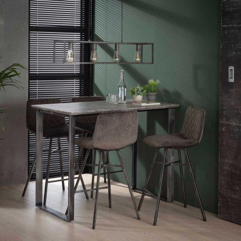 Table de bar 120 cm cadre 45 ° - 3D beton