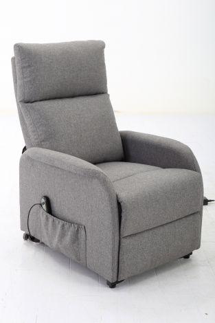 Fauteuil relax électrique Wales - gris clair