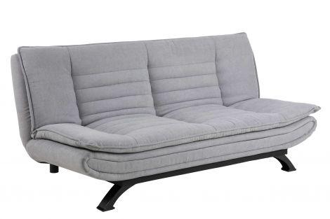 Canapé-lit Trust - gris clair/noir