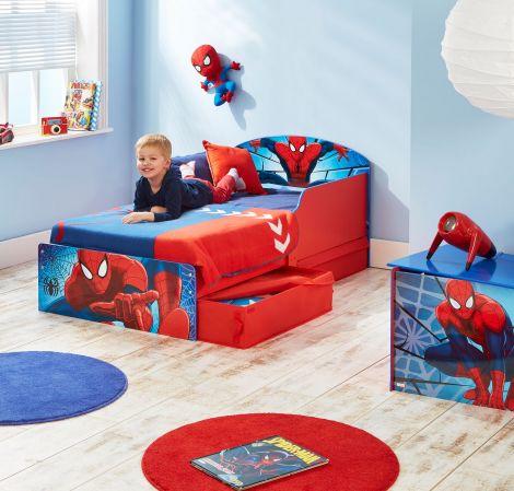 Lit junior Spider-Man avec tiroirs