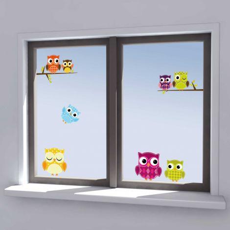 Stickers pour fenêtre Owls