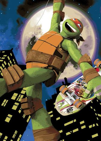 Tapis Tortues Ninja - Mike Skate