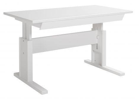 Bureau avec tiroir 120cm - laqué blanc
