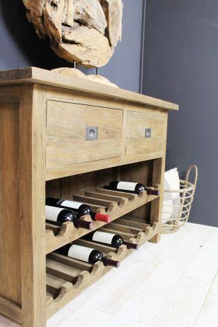 Armoire à vin - teck / métal recyclé