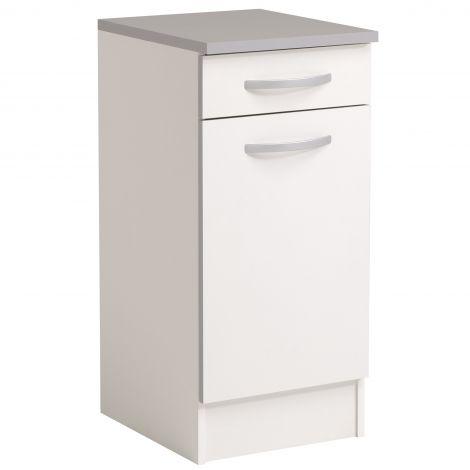 Meuble bas Spott 40x47 cm avec tiroir et porte - blanc