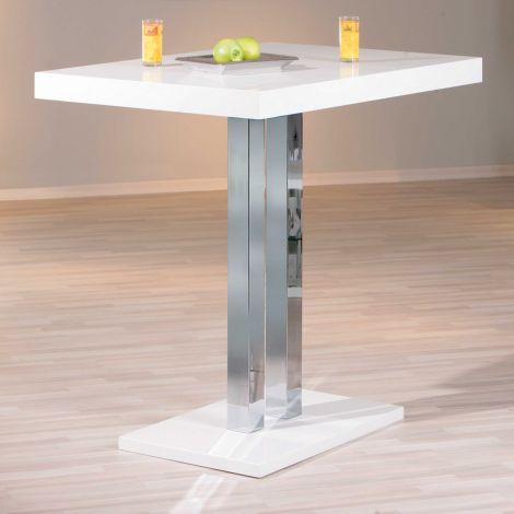 Table de bar Palazzi 120x80 - blanc brillant