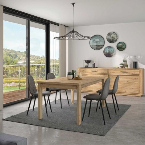 Table à manger extensible Adrian - chêne artisan