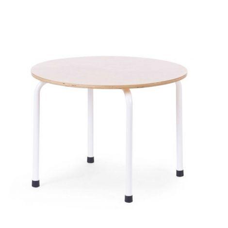 Table pour enfants ronde Ø60cm - naturel/blanc