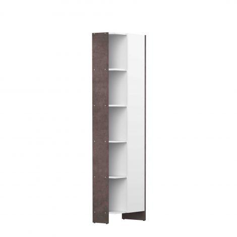 Colonne Biarritz 1 porte - blanc/béton
