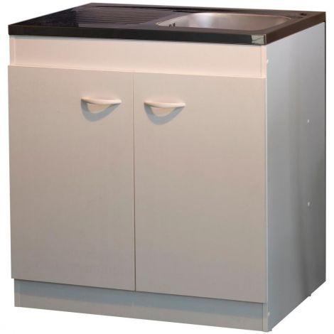 Armoire basse pour évier avec 2 portes (100 cm).