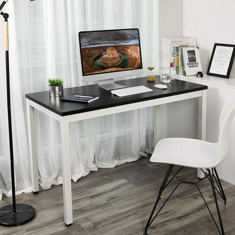 Table de bureau Joris 120cm - noir/blanc