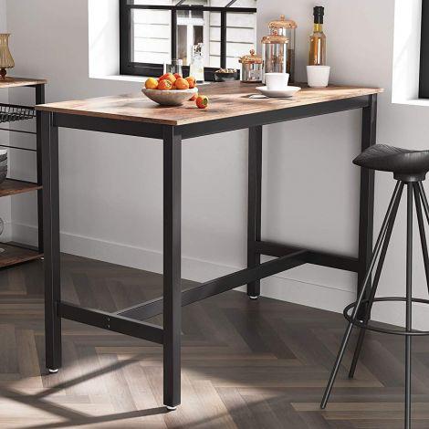 Table de bar Isolde 120x60 - brun/noir