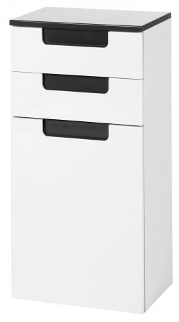Armoire basse Siena 40cm - blanc/anthracite