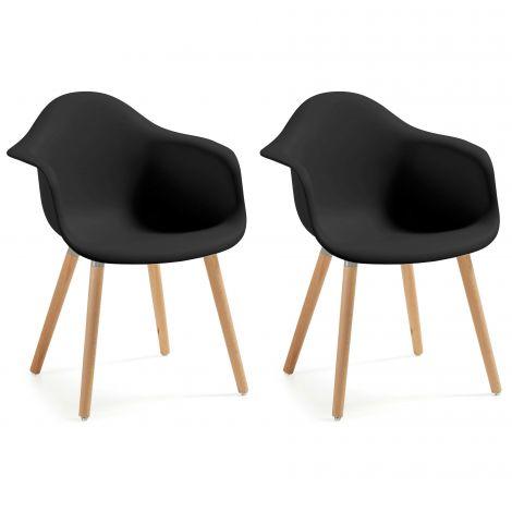 Lot de 2 chaises Kevya - noir