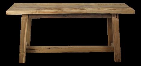 Banc décoratif Lawas - 100 cm - naturel - teck