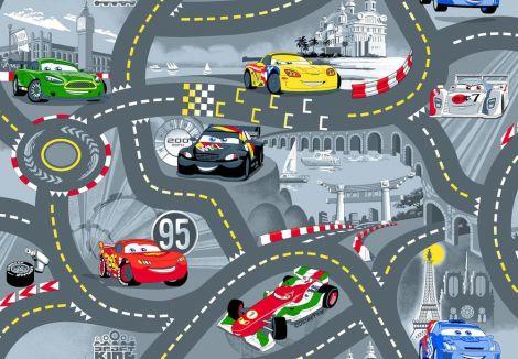 Tapis Cars - World of Cars grey