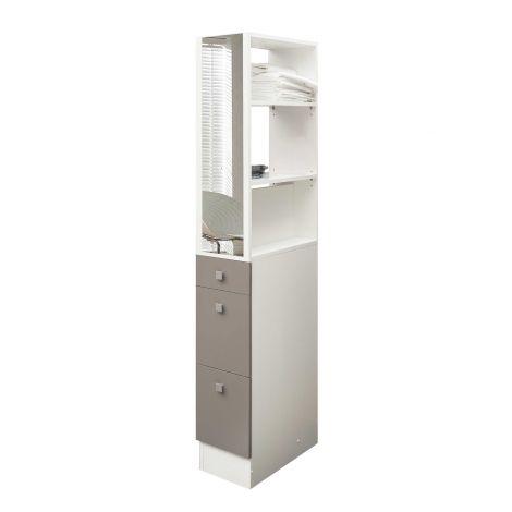 Armoire salle de bains Split - blanc/taupe