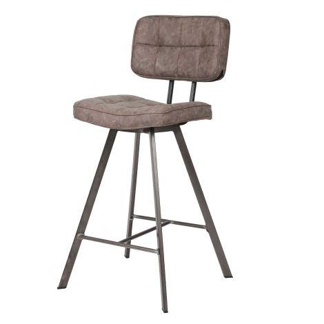 Lot de 4 chaises de bar Ziva - brun