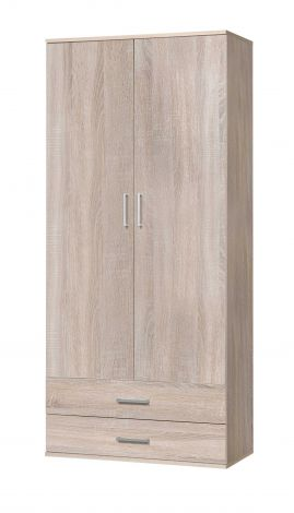 Armoire Ronny 2 portes & 2 tiroirs - chêne