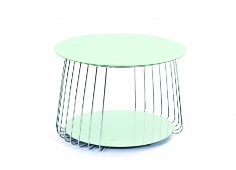 Table d'appoint Riva ø70cm - blanc