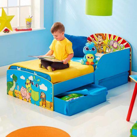 Lit junior Toy Story avec tiroirs - bleu