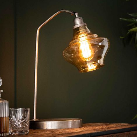 Lampe d'appoint Wanted - argent vieilli