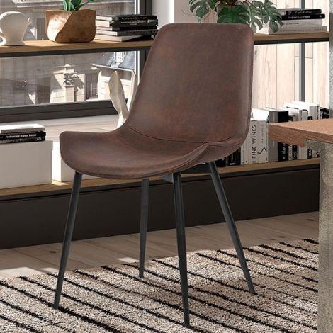 Lot de 2 chaises Monaco - brun
